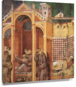 Murales Apparition to Fra Agostino and to Bishop Guido of Arezzo